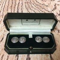 Holland and Holland vintage solid silver cufflinks